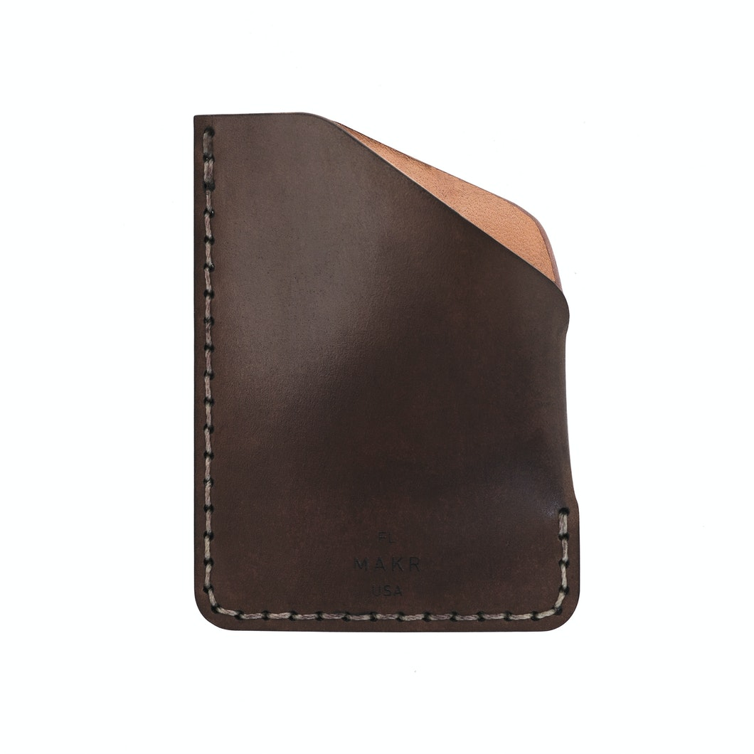 MAKR - Cordovan Angle Wallet - Made in USA