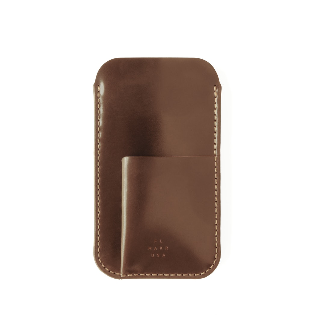 MAKR - Cordovan iPhone Sleeve w/ Card Holder - Made in USA