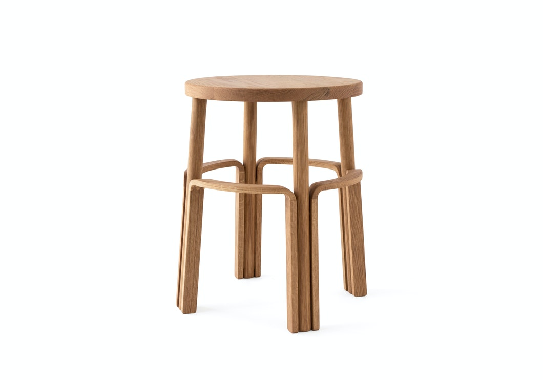 """MAKR - Wood Factory Stool 18"""" - Made in USA"""