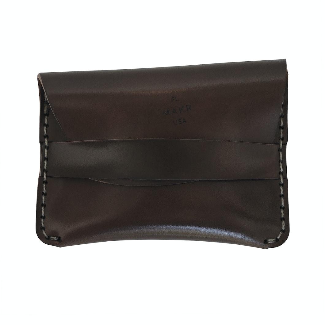MAKR - Cordovan Flap Slim Wallet - Made in USA
