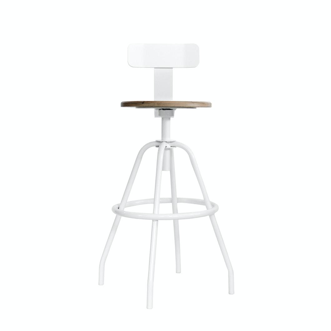 MAKR - OVER STOCK - Swivel Studio Work Stool-30in Seat  - Made in USA
