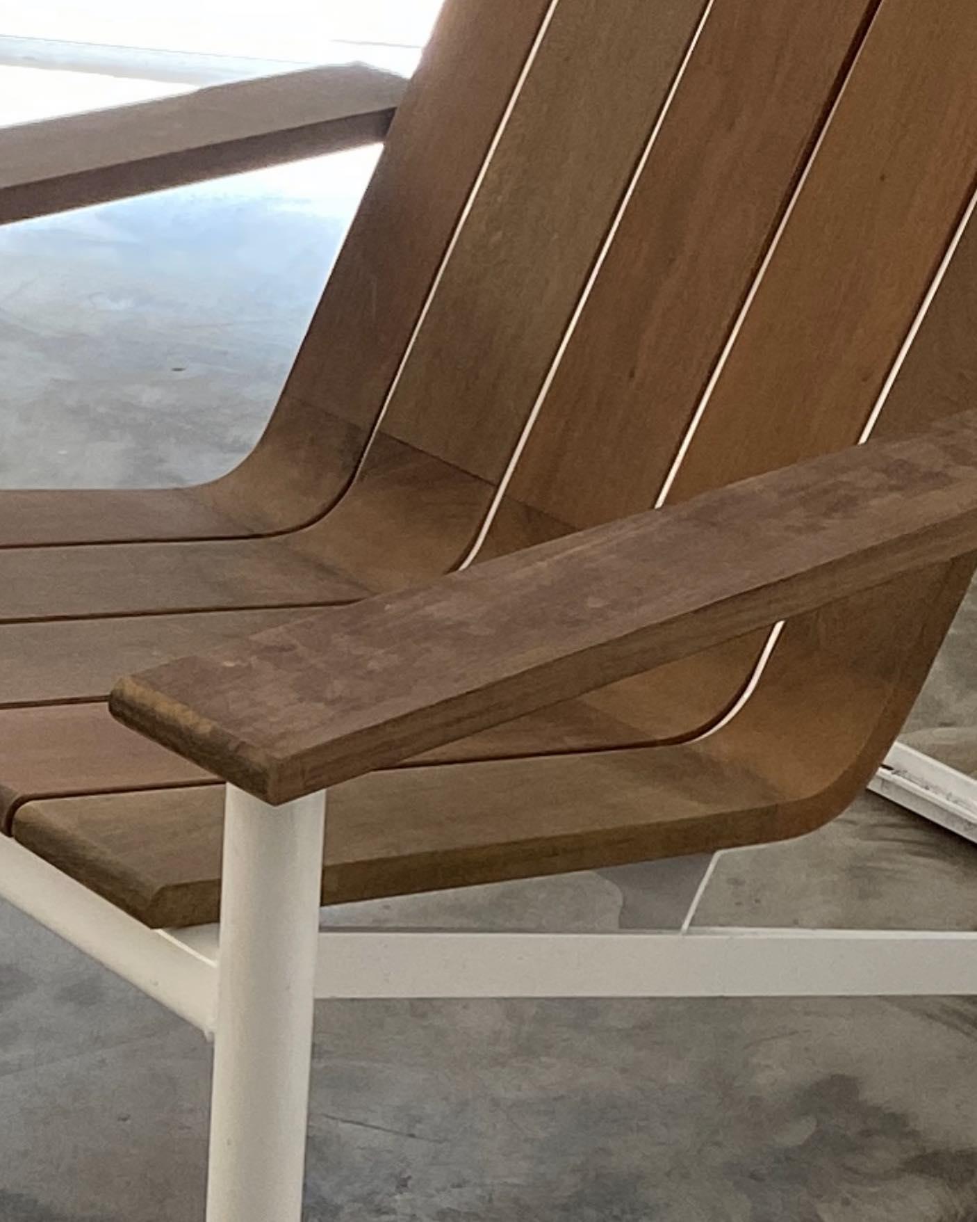 Detail of a custom Ipe deck chair. #makrjournal